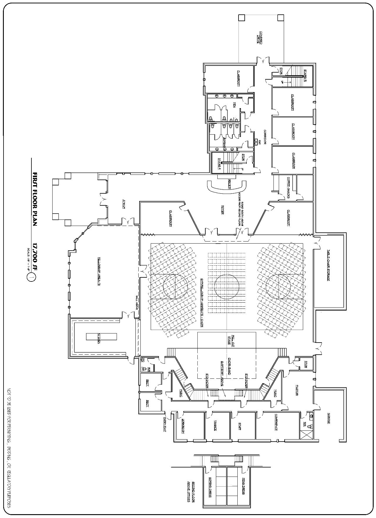 El Bethel Baptist Church Architectural Floor Plan